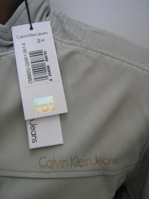 newest 7e745 24f3d Abbigliamento Uomo: GIUBBOTTO PELLE CALVIN KLEIN colore 9A1 ...